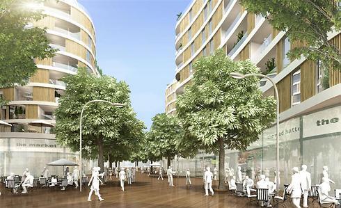 פרויקט רביעיית פלורנטין בתל-אביב (הדמיה: פיבקו אדריכלים)