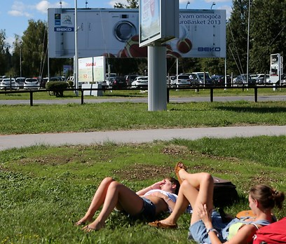 שלטים בכל פינה. לובליאנה (צילום: ראובן שוורץ, סלובניה) (צילום: ראובן שוורץ, סלובניה)