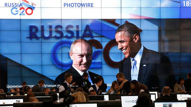 אובמה ופוטין בוועידת G-20 בחודש שעבר (צילום: רויטרס)