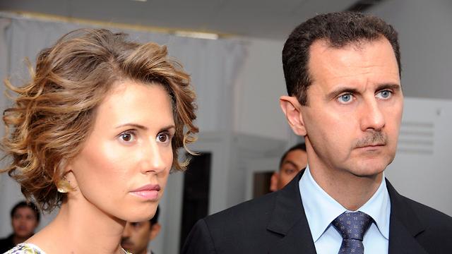 Asma, Bashar Assad (Photo: AP)