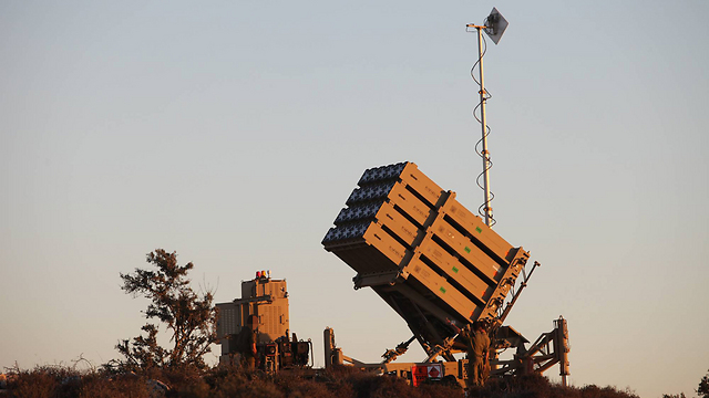 An Iron Dome battery stationed near Jerusalem (File photo: Gil Yohanan)