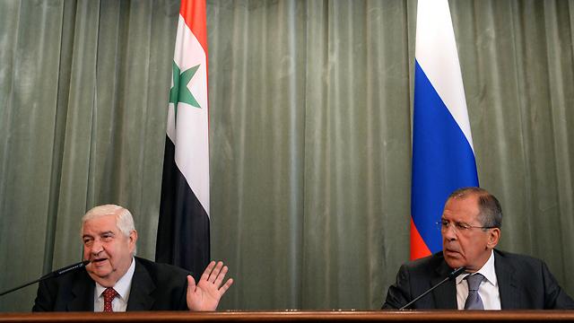 Al-Moallem, Lavrov (Photo: AFP)