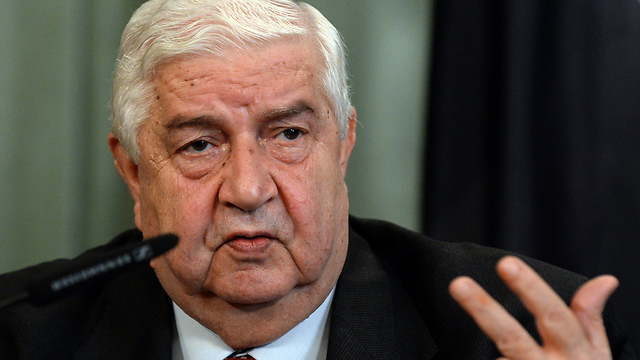Syria's foreign minister Wallid Al-Moallem (Photo: AFP)