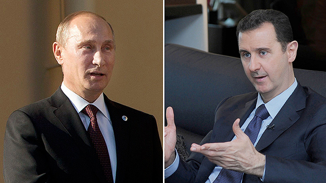 התקיפה מוקפאת. פוטין ואסד (צילום: רויטרס, AFP) (צילום: רויטרס, AFP)