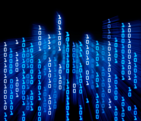 וזה מה שקורה במחשב. רק לא בצבע כחול ובצורה גרפית כל כך ברורה (Shutterstock) (Shutterstock)