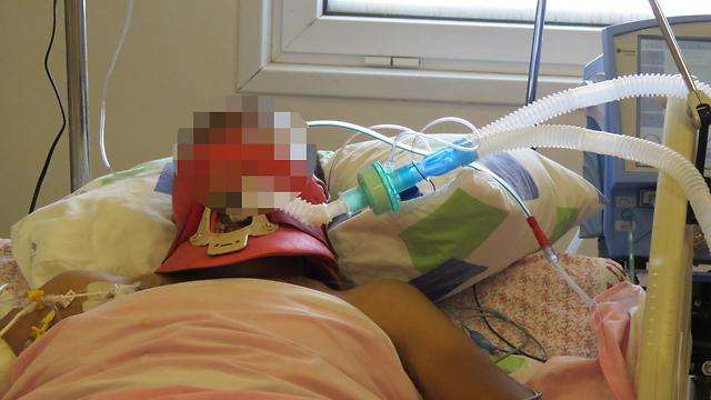 Syrian wounded in Nahariya (Photo: Hassan Shaalan)