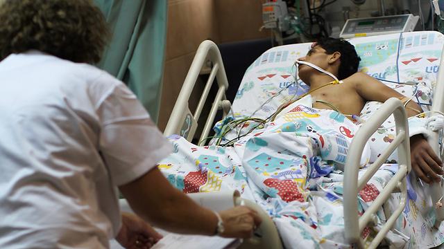 Syrian wounded in Nahariya hospital (Photo: Hassan Shaalan)