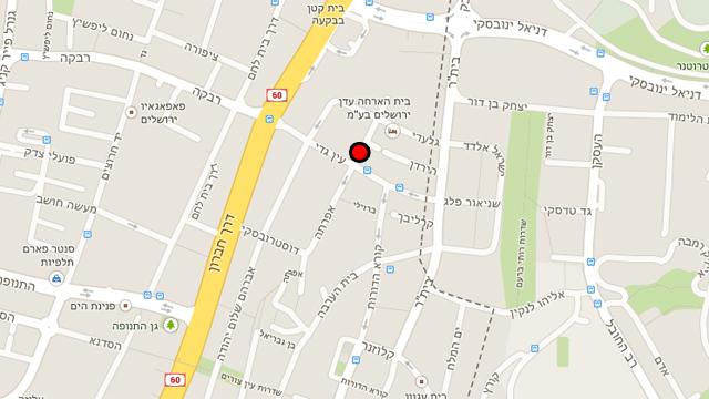 אזור האירוע בירושלים (צילום: Google maps) (צילום: Google maps)