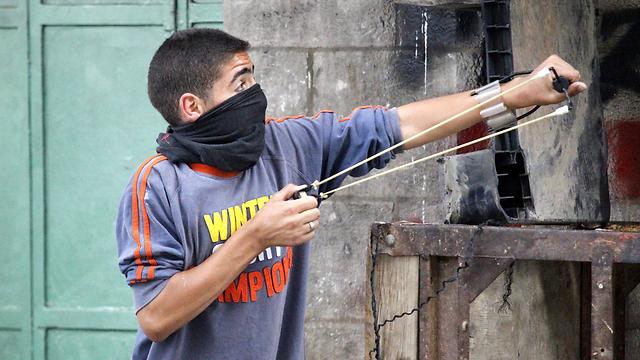 Clashes in Hebron (Photo: EPA)