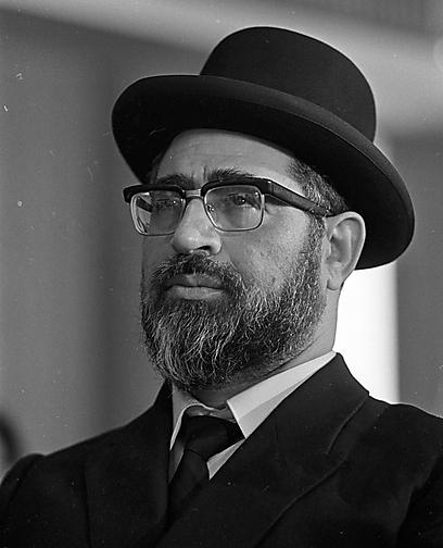 הרב עובדיה בתקופת מועמדותו למשרת הרב הראשי, שנת 1972 (צילום: דוד רובינגר) (צילום: דוד רובינגר)