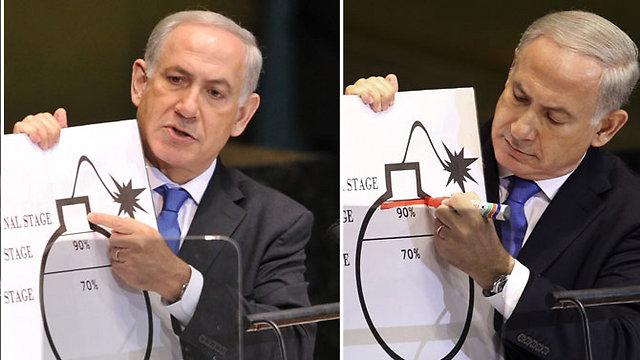 ראש הממשלה הישראלי הציב קו אדום לאיראן. נתניהו (צילום: רויטרס, AP, AFP) (צילום: רויטרס, AP, AFP)