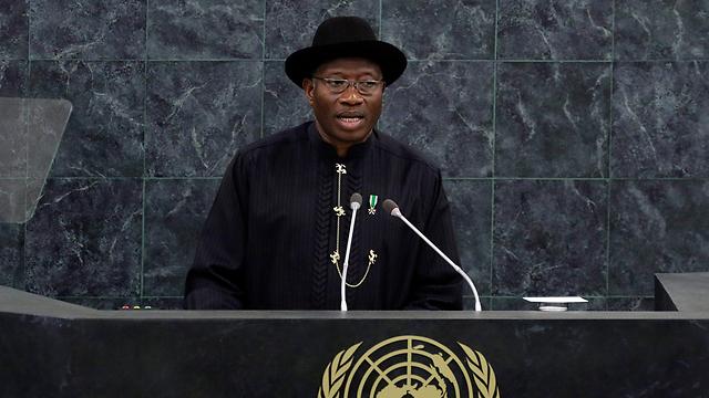 נמצא בשפל בפופולריות שלו. נשיא ניגריה גודלאק ג'ונתן (צילום: AP)