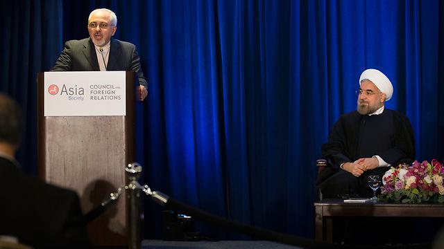 """כבשו את העולם ב""""מתקפת הקסם"""" שלהם. רוחאני וזריף בניו יורק (צילום: AP) (צילום: AP)"""