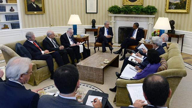 Obama-Netanyahu meeting in DC (Photo: Kobi Gideon, GPO)