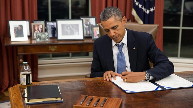 חמישה מתוך שמונת הנשיאים האחרונים בארצות הברית. איטרי יד ימין (צילום: EPA)