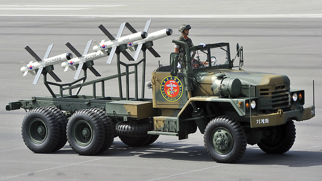 Rafael Advanced Defense Systems' Spike missiles in South Korea (Photo: AFP)