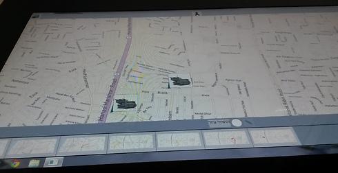 בהדגמה הופעלה תוכנת המפות של בינג. בגרסה המבצעית זה נראה קצת אחרת (צילום: שחר שושן) (צילום: שחר שושן)