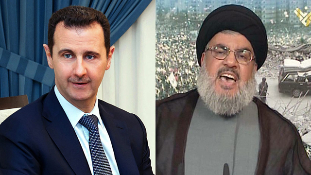 Assad and Nasrallah (Photo: AFP, EPA)  (Photo: AFP, EPA)