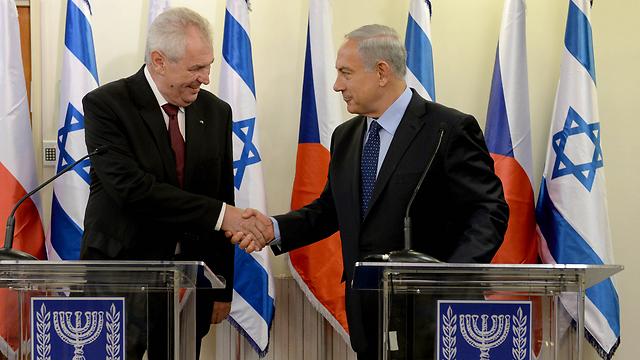 President Miloš Zeman with PM Benjamin Netanyahu (Photo: Kobi Gideon/GPO)