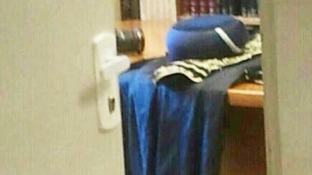 Rabbi's cape after his death