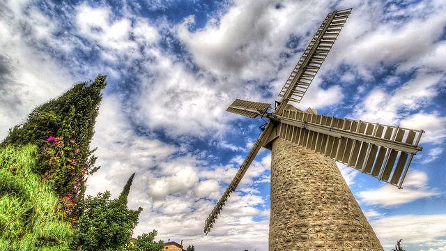 טחנת הרוח במשכנות שאננים (צילום: איתי ג'משי)