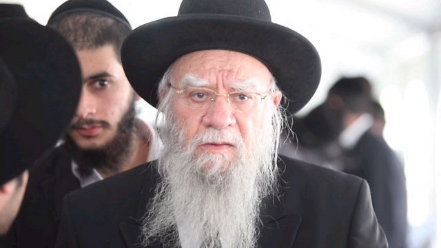 Former Chief Rabbi of Israel, Eliyahu Bakshi-Doron (Photo: Ohad Zwigenberg) (Photo: Ohad Zwigenberg)