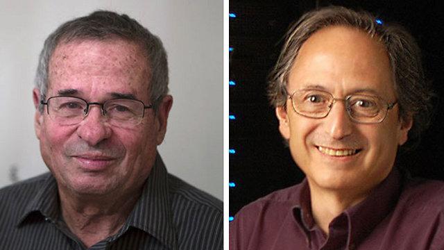 פרופ' לוויט (מימין) ופרופ' ורשל (צילום: EPA, רויטרס)