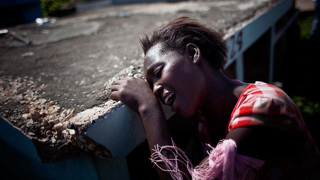 נפגעי כולרה בהאיטי (ארכיון)                        (צילום: AP)