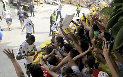 ג'קסון מרטינס חותם לאוהדי נבחרת קולומביה (צילום: AFP) (צילום: AFP)