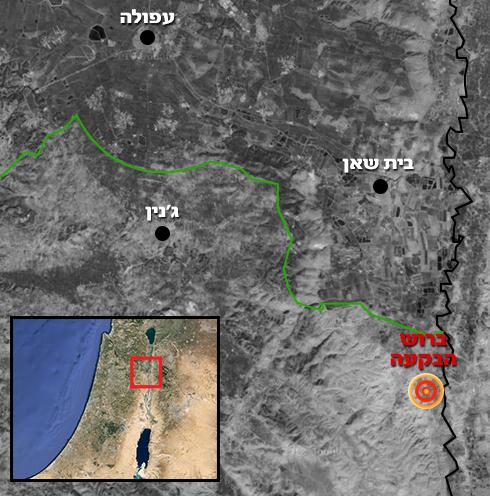זירת הפיגוע בצפון בקעת הירדן ()
