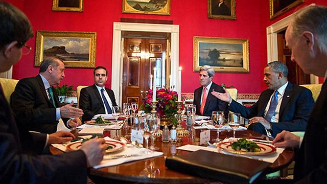 אובמה, קרי, פידאן וארדואן (צילום: פיט סאוזה, הבית הלבן) (צילום: פיט סאוזה, הבית הלבן)