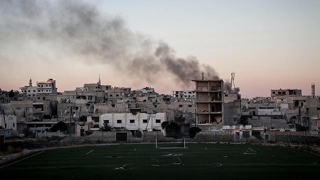 הפצצה באידליב. העימות בסוריה לא יסתיים בקרוב (צילום: AP) (צילום: AP)