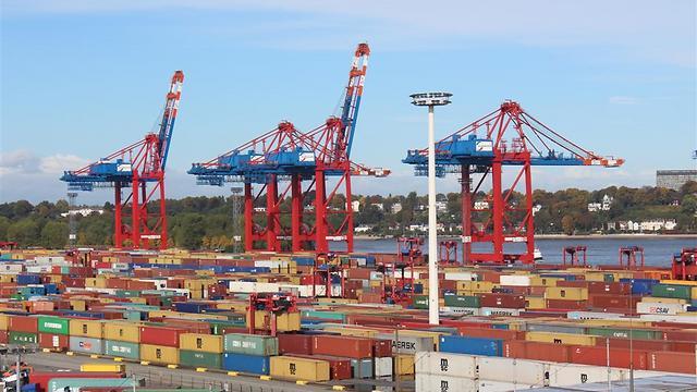 נמל המבורג, המסוף של חברת יורוגייט הפרטית (צילום: יאיר חסון) (צילום: יאיר חסון)