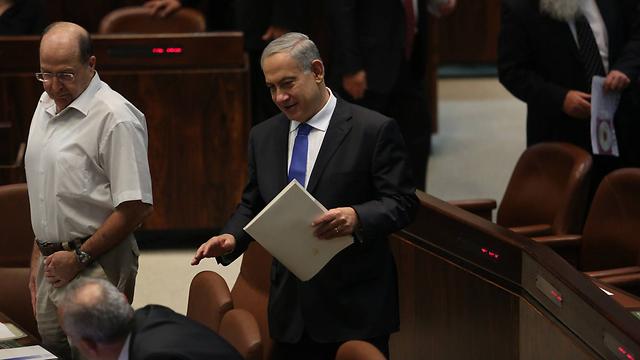 """ראש הממשלה במליאה. """"ישראל איננה האויב של הערבים"""" (צילום: גיל יוחנן ) (צילום: גיל יוחנן )"""