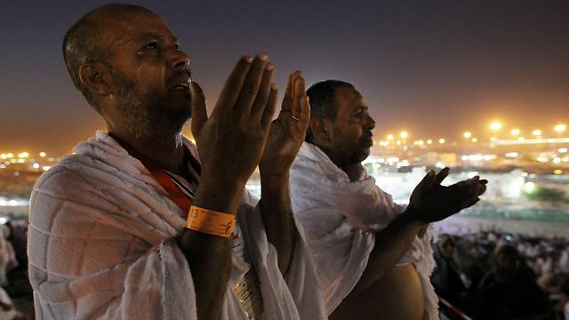 לילה בהר ערפאת, סעודיה (צילום: EPA) (צילום: EPA)