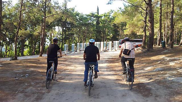 טיול אופניים חשמליים ביער הזורע (צילום: זיו ריינשטיין) (צילום: זיו ריינשטיין)