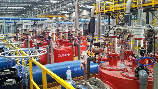 מערכת של עמיעד לסינון במתקן התפלה (באדיבות עמיעד מערכות מים) (באדיבות עמיעד מערכות מים)