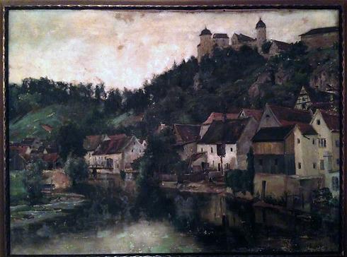 הרבורג, כפי שנצפתה מעל נהר הוורניץ - שנות ה-30 ()