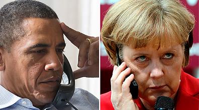 קנצלרית גרמניה דורשת מעשים. מרקל ואובמה (צילום: Amanda Lucidon, EPA) (צילום: Amanda Lucidon, EPA)