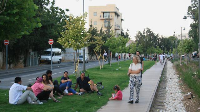 """פארק המסילה בירושלים (צילום: תכנון נוף בע""""מ)"""