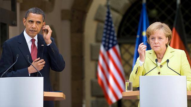 מרקל. קורבן להאזנות?               (צילום: AFP) (צילום: AFP)