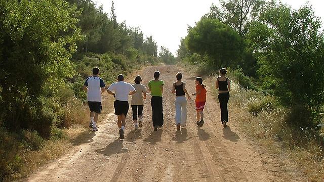 """לרצים מתחילים עד מנוסים. שביל ריצה בהר איתן (צילום: גידי בשן, קק""""ל) (צילום: גידי בשן, קק"""