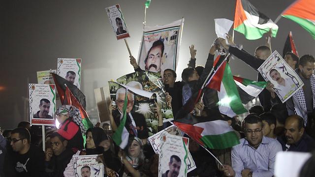 שחרור אסירים פלסטינים. ארכיון (צילום: גיל יוחנן) (צילום: גיל יוחנן)