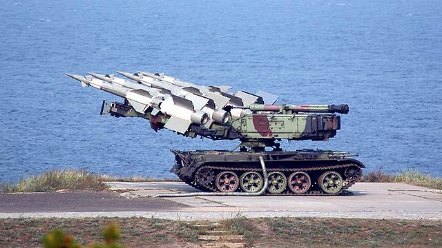 S-125 Neva surface-to-air missiles in Latakia