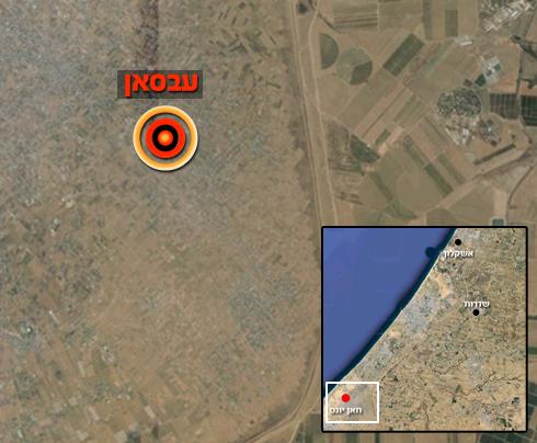 אזור התקרית, בדרום רצועת עזה (צילום: Google Maps) (צילום: Google Maps)