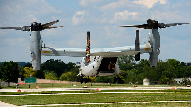 The V-22 Osprey plane-helicopter the Israelis requested from the US (Photo: EPA)