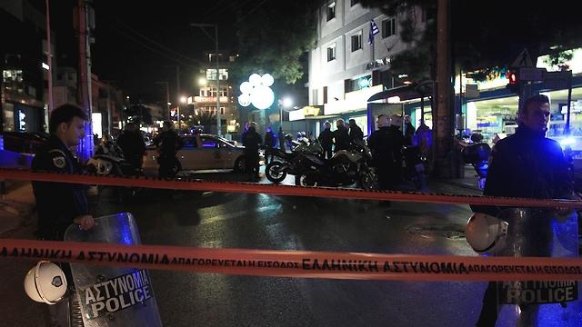 Scene of shooting, Friday (Photo: EPA)