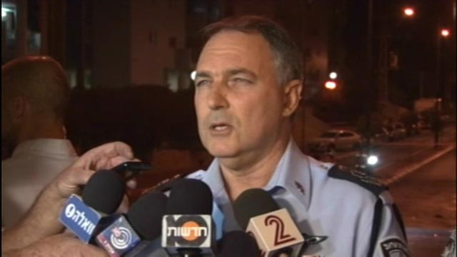 Chief of Police Danino at the scene (Photo: Roee Idan) (Photo: Roee Idan)