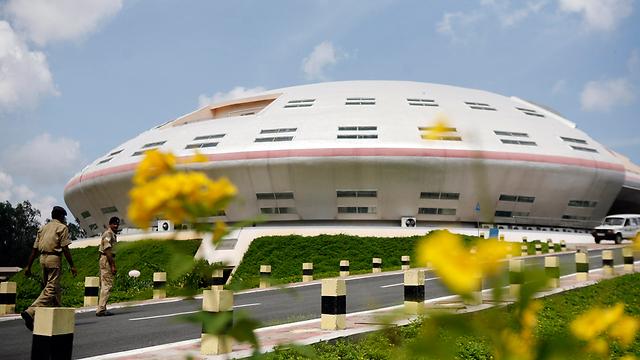 תחנת החלל ההודית באי שריהריקוטה (צילום: AP)