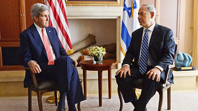 Kerry, Netanyahu meet in Jerusalem (Photo: Kobi Gideon, GPO)